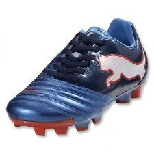 Puma Soccer Cleats Metallic Blue/Black Iris/White/Orange Mens Size 10