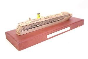 Costa-Atlantica-Standmodell-Kreuzfahrtschiff-Modell-Massiv-Metall-Holzsockel
