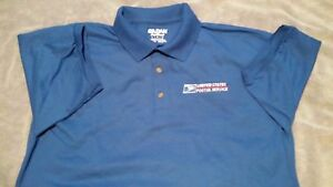 Usps Postal Royal Polo Shirt With Embroidered Postal Logo On Crest