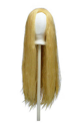 32/'/' Long Straight No Bangs Butterscotch Blonde Cosplay Wig NEW