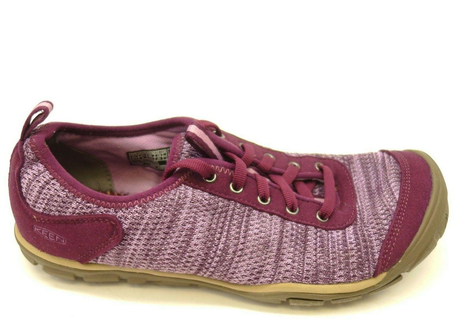 Keen Hush Knit US 8 EU 38.5 Purple Heather Casual Lace shoes Womens Flats