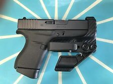 Glock G19 G23 Aiwb/iwb Rh S.A.F. Kydex Holster Carbon Fiber Black
