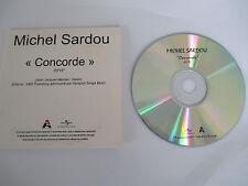 "MICHEL SARDOU - RARE CD SINGLE PROMO ""CONCORDE"""