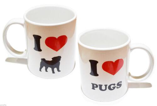 I Love Pugs China Mug Pug Owners Mug Pug Dog Owners Mug XCMN111