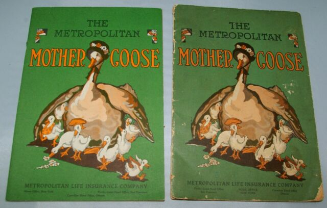 TWO (2) Vintage The Metropolitan Life Insurance Company Mother Goose Booklet