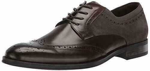 kenneth cole New York Men's Shoes Leather brock lace up Wingtip Dress Shoes