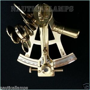 Solid-Brass-Sextant-4-034-Astrolabe-Marine-Nautical-Maritime-Gift-Ships-Instrument