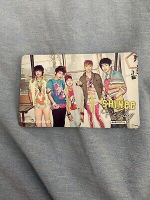Shinee onew dazzling girl Japan jp official photocard card Kpop K-pop