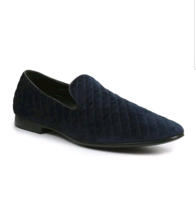 Giorgio Brutini Chatwal Mens SlipOn Loafer Navy Velour Dress shoes 176273 SZ 9.5