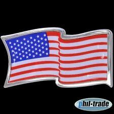 3D Chrom Emblem Aufkleber Flagge USA Vereinigte Staaten States America L056