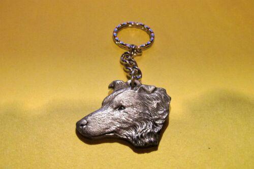 Pewter Border Collie Dog  Key Chain