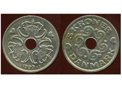 etat DENMARK  DANEMARK  5 kroner  1990