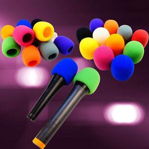 5 colors handheld stage microphone windscreen foam mic cover karaoke singing 646073250470 ebay. Black Bedroom Furniture Sets. Home Design Ideas