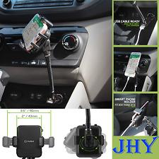 Cell Phone Car Holder with 2.1Amp USB Gooseneck Cigarette Stand for LG G6 G5 G4
