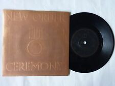 """NEW ORDER CEREMONY UK 7"""" EMBOSSED P/S FACTORY FAC33 1981 JOY DIVISION NEW WAVE"""