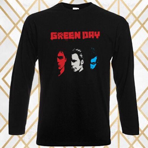 Green Day Rock Band Legend Personels Men/'s Long Sleeve Black T-Shirt Size S-3XL