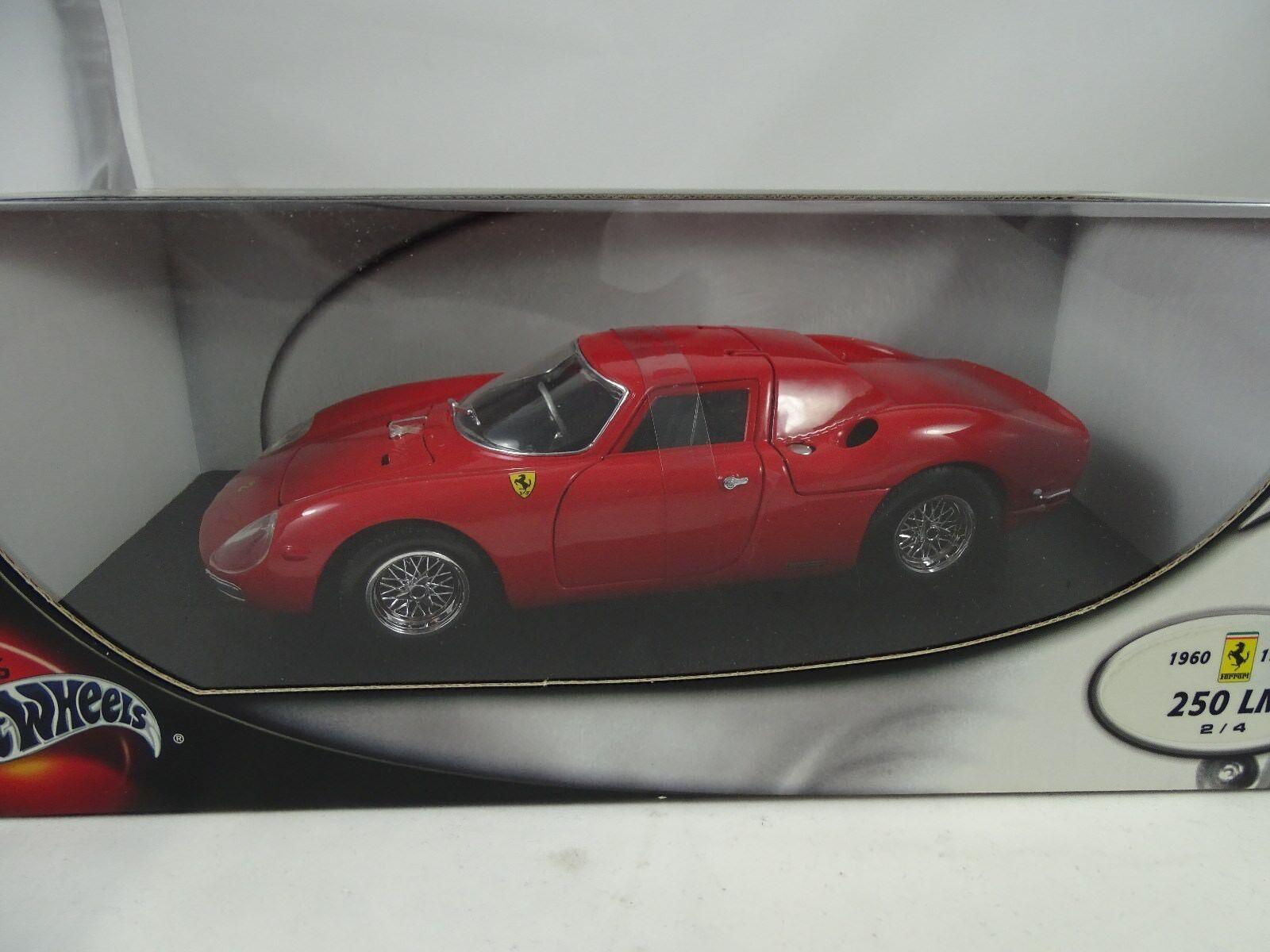 1 18 Hot Wheels Ferrari 1960 1969 250Lm 2 4 rosso - Rareza§