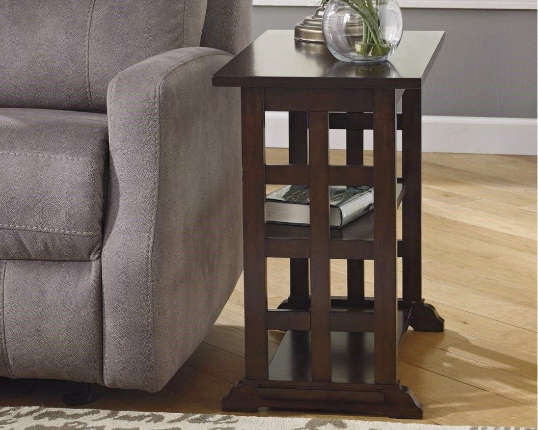 Narrow Side Table End Accent Wood Contemporary Sofa Chairside Magazine Small New