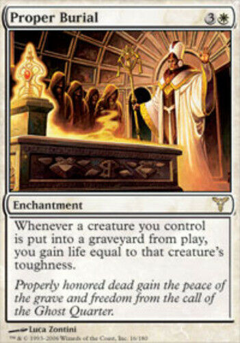 Foil ~ Moderately Played Dissension UltimateMTG Magic White Card Proper Burial