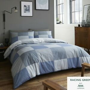 Racing-Green-TRAVIS-Blue-180-TC-Easy-Care-Duvet-Cover-Set