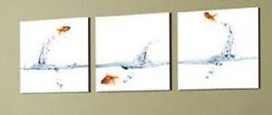31768-Bild-Goldfische-Fotodruck-auf-Leinwand-NEU