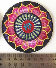 iron on sew on embroidered applique patches badges hippie hindu om sign 2