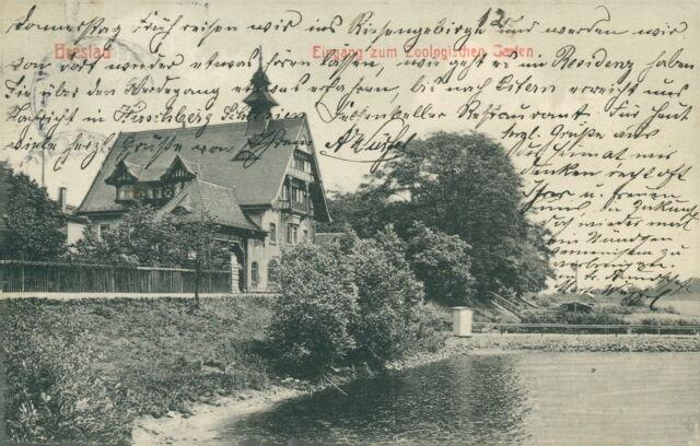 Ansichtskarte Breslau EIngang zum Zoologischen Garten um 1910  (Nr.805)