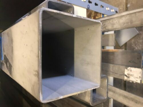 """4/"""" x 4/'/' x .120 wall Stainless Steel Square Tube 24/'/' Length"""