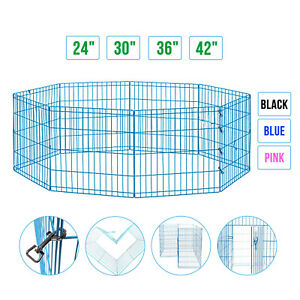 24-039-039-30-039-039-36-039-039-42-039-Metal-Dog-Playpen-Exercise-Fence-Pets-Kennel-Cage-Portable