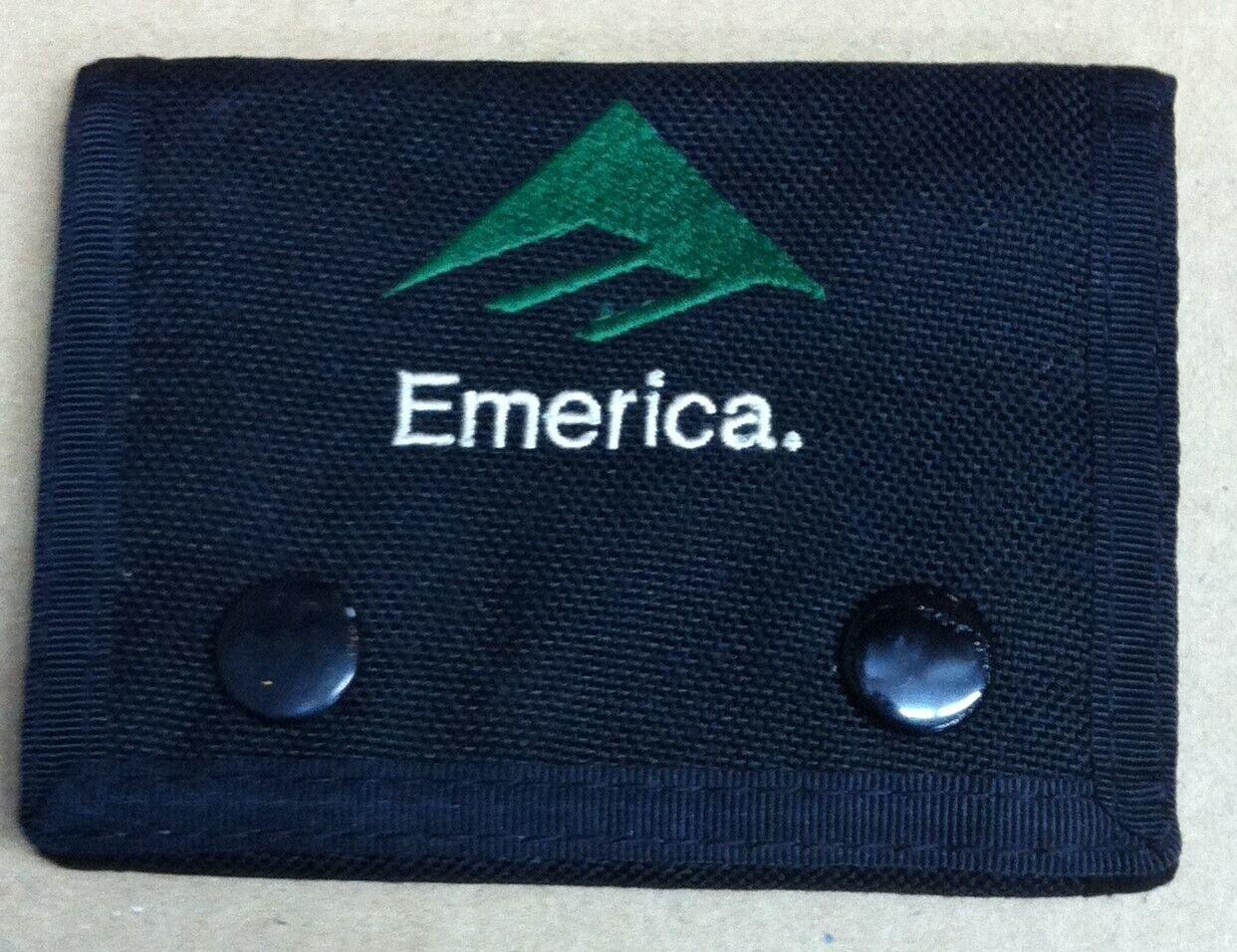 Vintage 90's Emerica skateboard hardcore grunge punk tri-fold nylon wallet