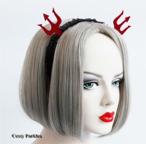 Adult Vampire Witch Ghost Red Black Fork Headbands Halloween Costume Accessories