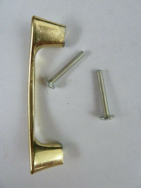 Vintage NOS Mid Century Retro Retro Retro Boomerang Brass Gold Drawer Door Pulls Lot of 10 415741