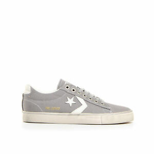 Converse-Pro-Leather-Vulc-Distressed-Ox-Sneaker-unisex-160981C-grigio-ORIGINALI