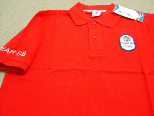 Official Licensed Product London 2012 Team GB Mens Red Polo Shirt