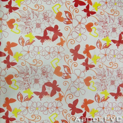 PVC Butterflies Oilcloth//Vinyl Tablecloth Wipe Easy 140CM Wide