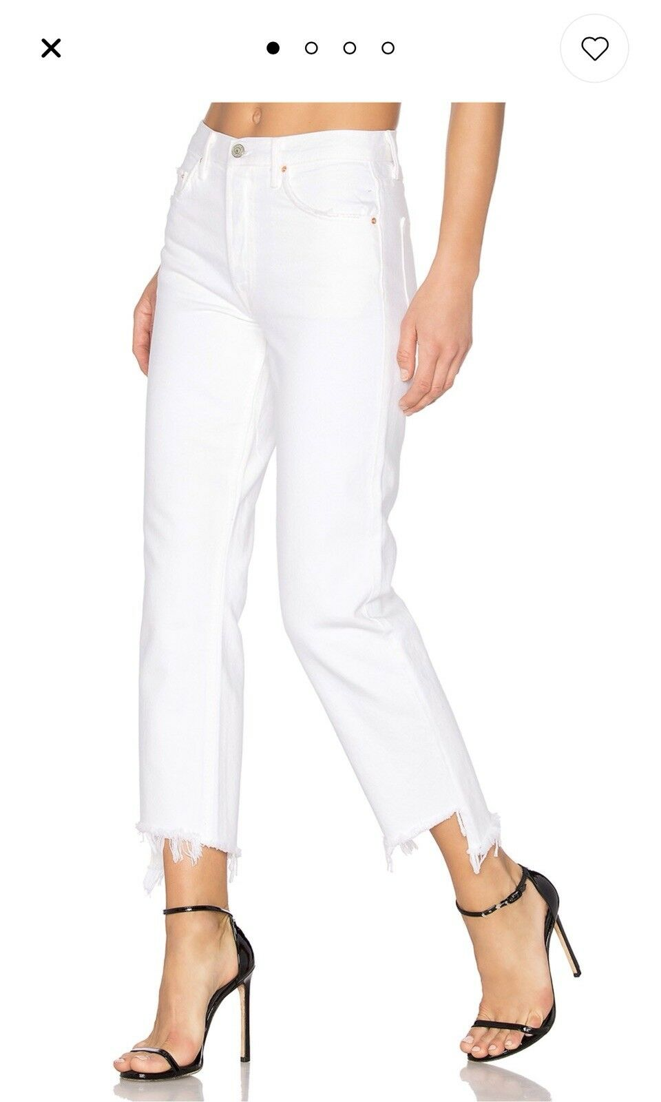 Grlfrnd Helena High Rise Cropped Denim In White