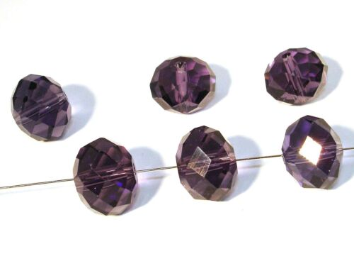 14x10mm facetado Cuentas de vidrio de vidrio esmerilado perlas #g9//2 lilas 10 unidades