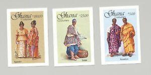 Ghana-1055-1057-Costumes-3v-Imperf-Proofs