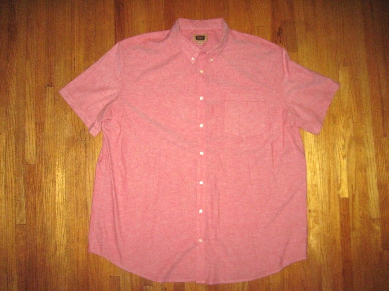 The Foundry Co.Red Button Down Collar Short Sleeve Casual Shirt Size 3XLT New
