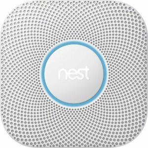 Google - Nest Protect 2nd Generation (Battery) Smart Smoke/Carbon Monoxide