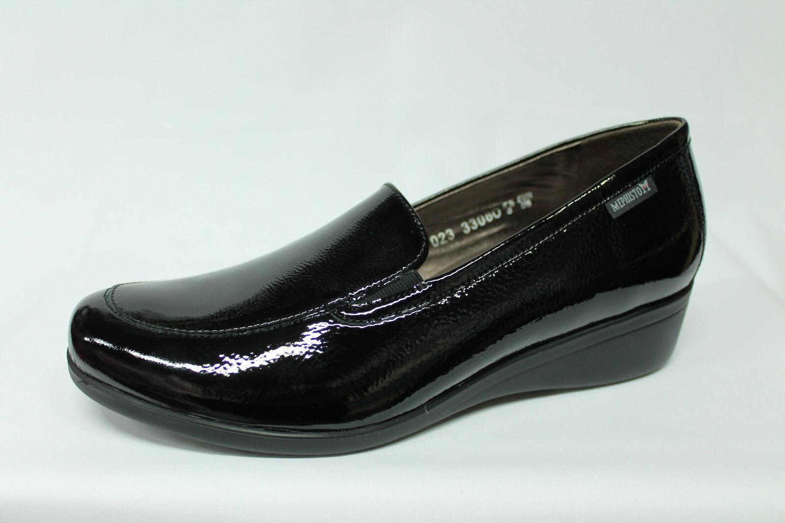 Mocassini Mephisto Olivia vernice nera listino 169 - 20%   Moderno Ed Elegante Nella Moda    Scolaro/Signora Scarpa