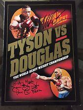 Mike Tyson vs James Buster Douglas Autographed Official Program Fight Plaza COA