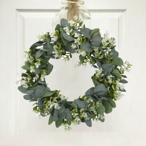 Artificial Flower Eucalyptus Wreath With Green Leaves Flower//outdoor Wall Decor