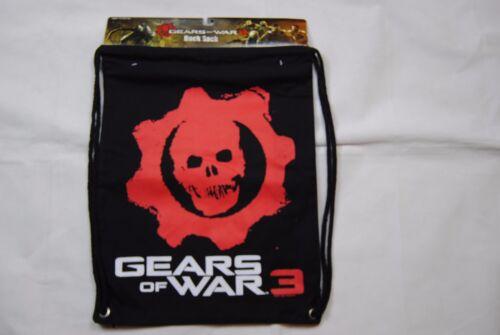 Gears Of War 3 Logo Rücken Sack Tasche Packung Neu Offiziell Schütze Videospiel