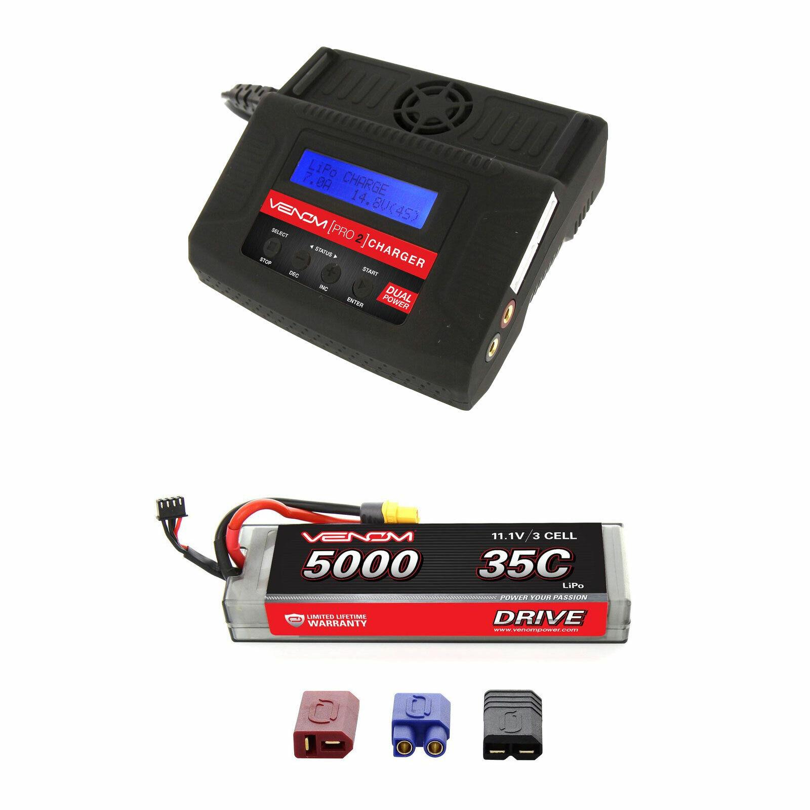 Venom 35C 3S 11.1v 5000mAh Batería LiPo Hardcase Y Cargador Combo Pro 2