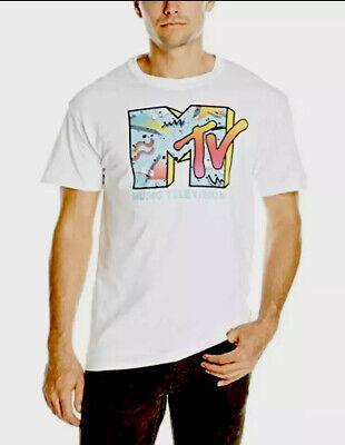 MTV Mens Retro Logo T-Shirt T-Shirt