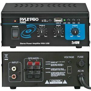 Mini amplificatore pyle pcau22 80 watt rms per piccole - Casse audio per casa ...