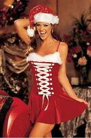 Déguisement De Noël Pour Femme Avec Bonet Et Fourrure Rouge Et Blanc 38 - 40