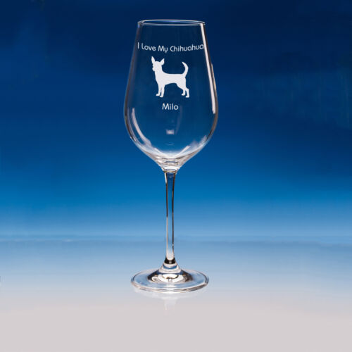 Gift Chihuahua Lover Chihuahua Dog Gift for Dog Lovers Personalised Wine Glass