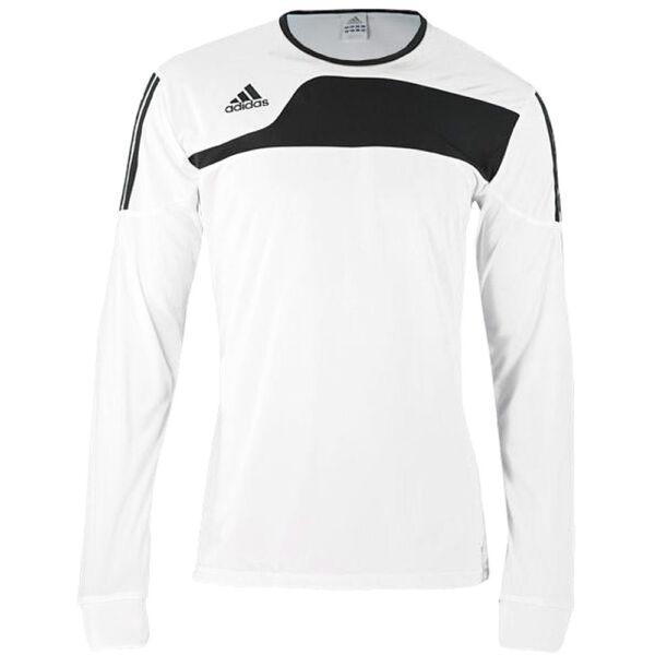 Adidas Maglia Calcio Uomo Man. Lunga Bianco/nero Sport Shirt Rimozione Dell'Ostruzione